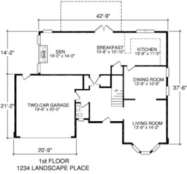 Our professionally measured square foot calculations are used to create detailed floor plans